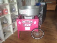 Posner cotton candy candy floss cart and machine