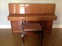 Excellent condition Fuchs and Mor upright piano. Hardly been used just needs to go to a good home