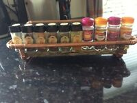 Copper pipe and reclaimed wood spice rack from £25.00