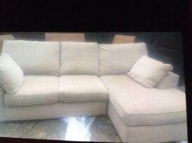 Next Stamford beige corner right hand chaise sofa