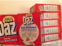 7 boxes of old DAZ washing powder, in very good condition,£4 each box