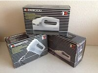 NEW 3 Kenwood Cordless small Kitchen Appliances with charger & accessories