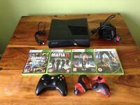 Xbox 360 Slim Black 4GB with 250GB Hard Drive.Controller (10 games)