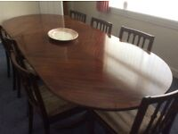 Dining Table,7 Chairs, Sideboard and 2 Dressing Tables