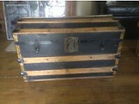 ANTIQUE TRUNK BY THE EAGLE LOCK CO. USA