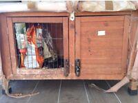Guinea pig hutch including run