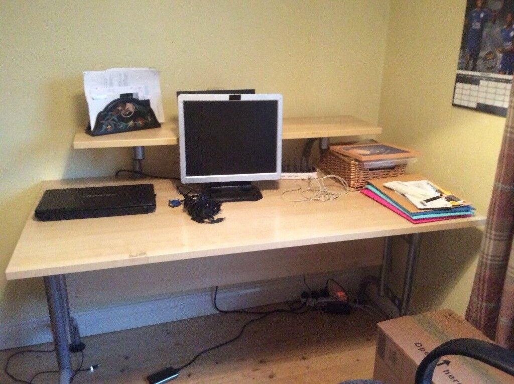 Study furniture. Desk and matching shelving unit