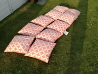 Garden outdoor showerproof scatter cushions £5 each tel 07966921804