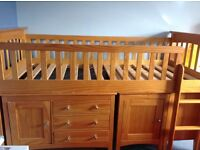 Cabin bed with furniture