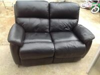 Black recliner sofa