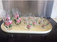 Drinking glasses for use or display in cabinet