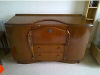 Vintage 1950s Beautility drinks sideboard