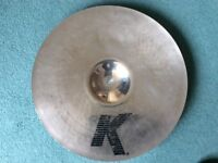 "18"" K Zildjian Dark Thin Crash in Brilliant Finish. REDUCED PRICE."