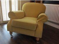 Original Habitat Armchair recently reupholstered in Cardinal Lemon.