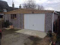 Apex Hanson garage; double size 18'.1 x 24'.3 ;