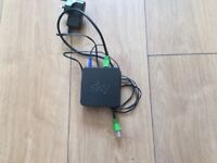 Sky wireless connector with Ethernet and power cables
