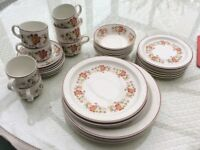 """Dinner service (incomplete). """"Midwinter"""" by Stonehenge."""