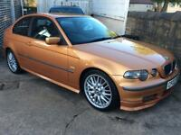 BMW 325TI COMPACT 3DR IN SPECIAL ORDERED MET ARIZONA SUN PAINT