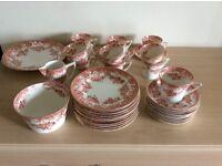 12 place set vintage bone china tea set tan & creamAlfonso design by Williamson & sons & hardly used