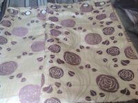 Rennie Mc Intosh Cream and Lilac Curtains