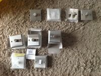 Volex Brushed Chrome Dimmer Light Switches.