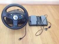 Steering Wheel and Pedals for Original Xbox