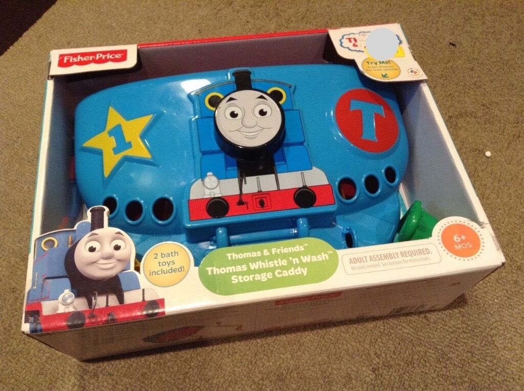 Fisher Price Thomas & Friends: Whistle \'n Wash Bath Toy & Storage ...