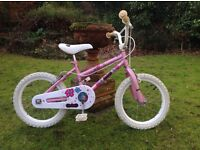 """Pink Angels"" bike suitable for 5,6, 7 yr old girl."