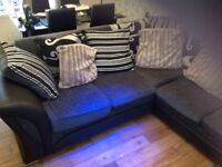 Corner sofa with foot stole