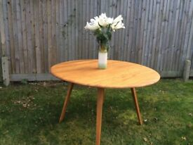 Ercol oval drop leaf dining table