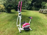 Cross Trainer / Exercise bike 2 in 1