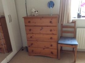 A pine drawers for sale
