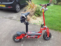 EVO Power Board Electric Scooter 36v 10Tyres in Red, Foldable