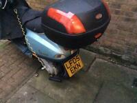 Light blue lx 50 Vespa for sale 2005