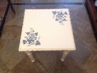 Small chalk painted table