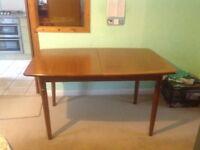 Meredew teak table, 1970s, good condition.