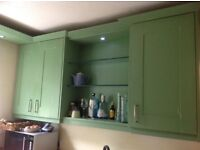 Solid oak kitchen,double wall cabinets,floor and corner units