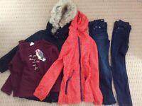Girls 8-9 years clothes bundle. Zara winter jacket
