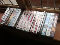 BULK JOB LOT OF 19 x DVDS VHS VIDEOS MUSIC FILM TV MOVIES Cassette tapes dvd