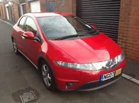 2007 HONDA CIVIC SE I-VTEC 1.8 5 DOOR 67000 MILES REDUCED FOR QUICK SALE