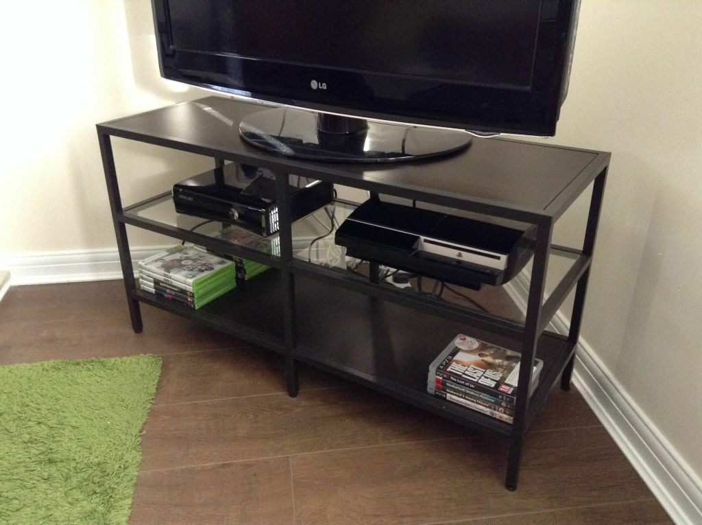 Ikea vittsjo tv stand in newport gumtree - Ikea table tv ...