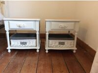 Vintage /Shabby Chic Bedside Tables with Drawer/Storage