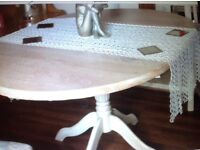 Dining or kitchen table shabby chic table