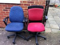 Two office chairs excellent condition for £20
