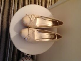 NEW Nude Patent Wedges. Size 6. Bargain price £5