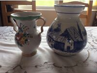 Two lovely pottery vases.