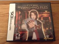 Cate West The Vanishing Files Nintendo DS Game