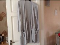 Grey cardigan size 14