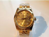 Rolex – date just – All gold - Gold face