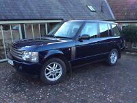 Range Rover 3.0 L Diesel HSE 83000 miles L322 Auto